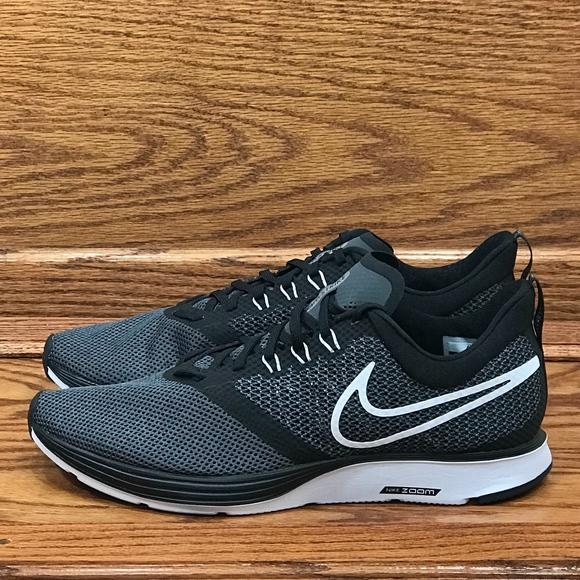 cdf759baafa96 Nike Zoom Strike Black White Dark Grey Shoes